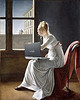 Young Woman Blogging, after Marie-Denise Villers by Mike Licht